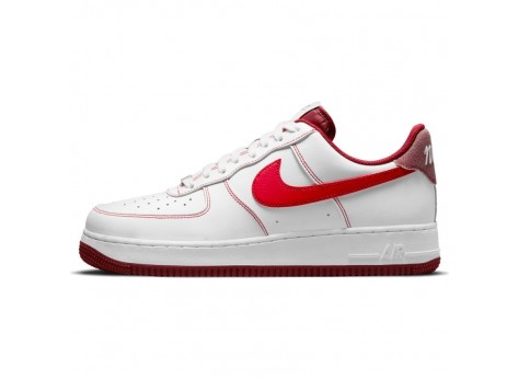 Nike Nike Air Force 1 07 Blanc et Rouge Homme - Chaussures Baskets ...