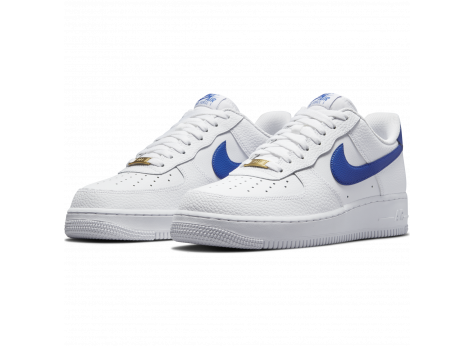 Nike Air Force 1 white royal blue - Chaussures Baskets homme ...