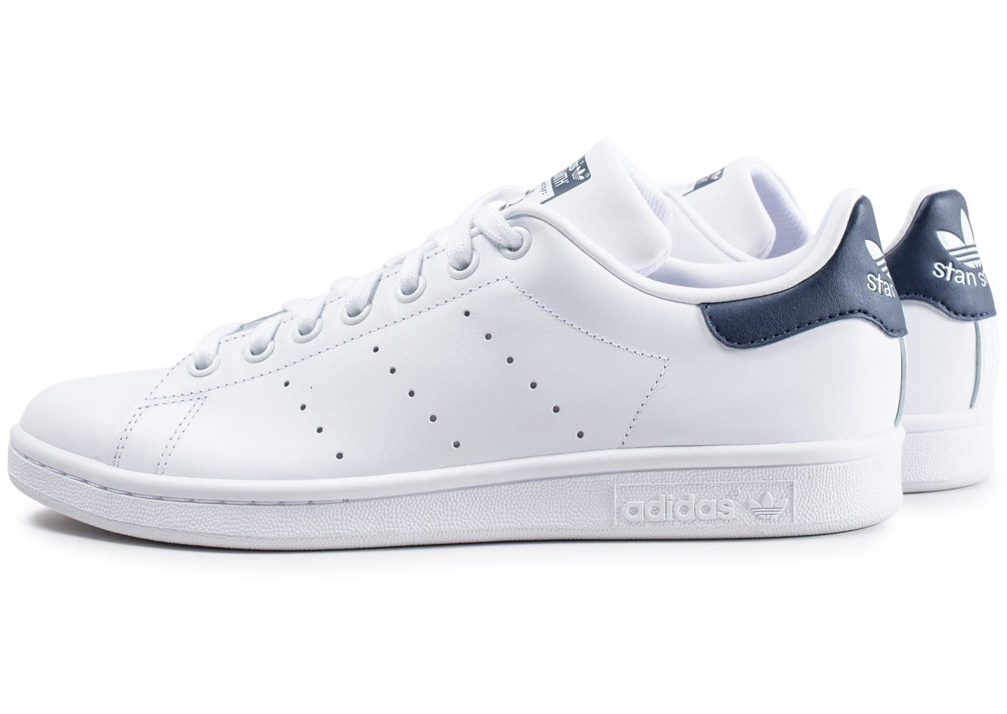 adidas Stan Smith blanche et bleue Chaussures Baskets