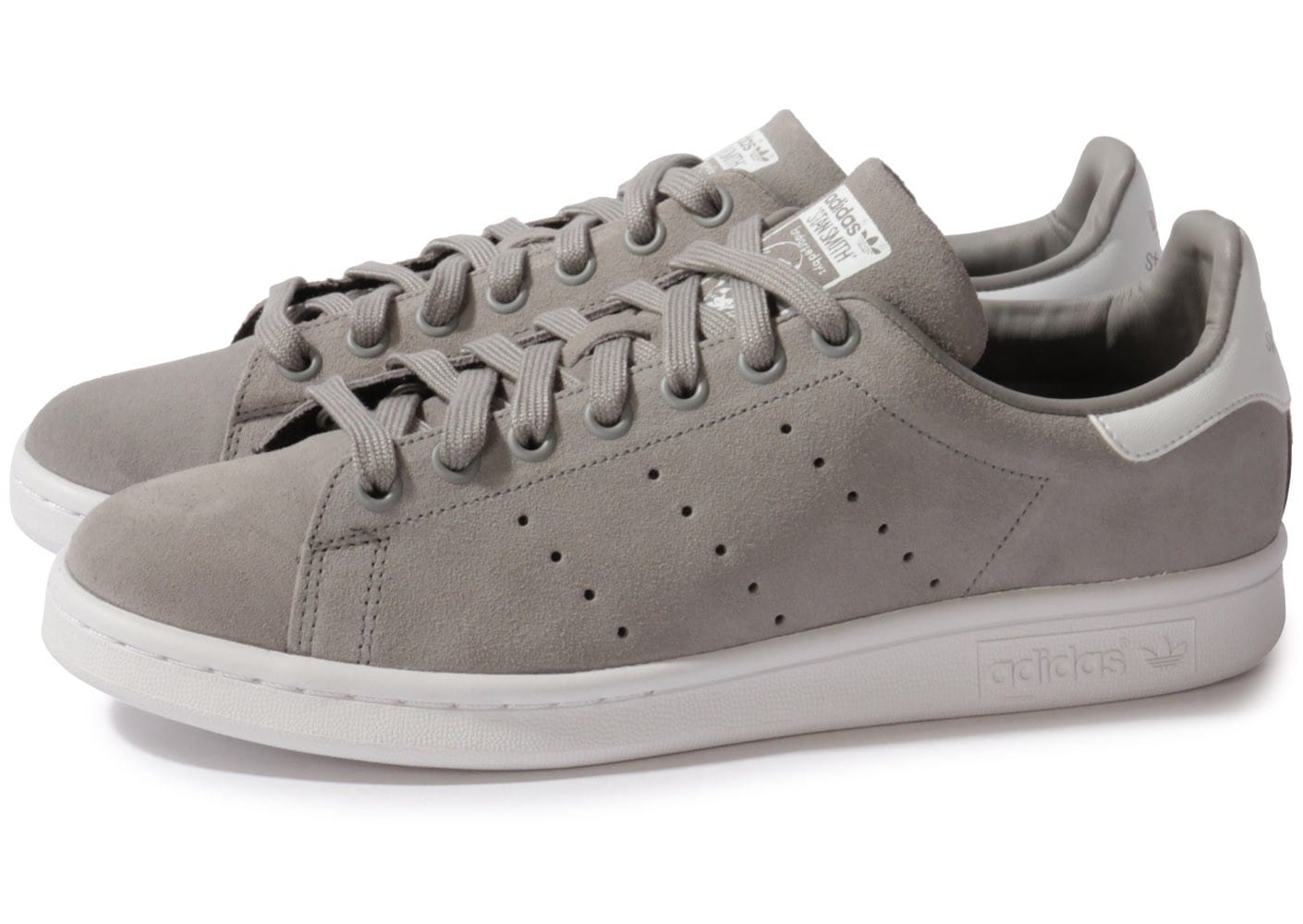nouveau style 6a5ee cfb30 adidas Stan Smith Grise - Chaussures Baskets homme - Chausport