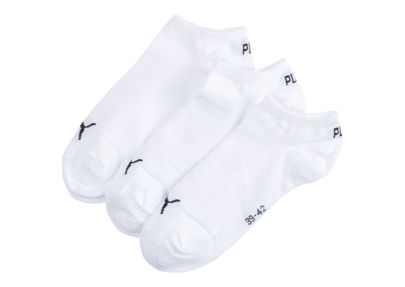Puma Chaussettes Invisibles 3 Paires Blanches