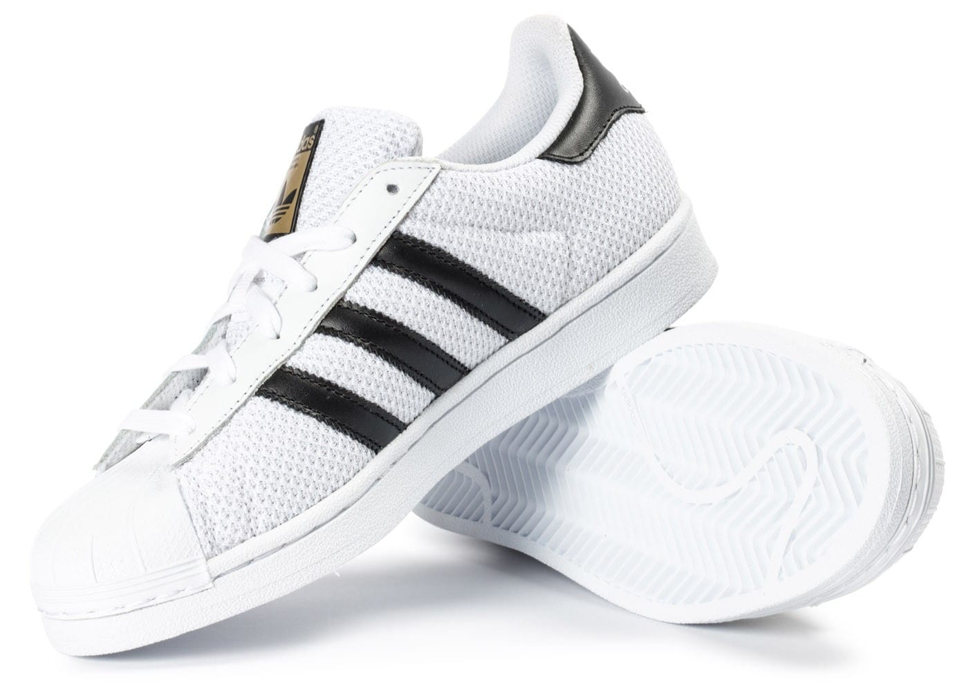 adidas Superstar Nylon Junior blanche Chaussures adidas Chausport