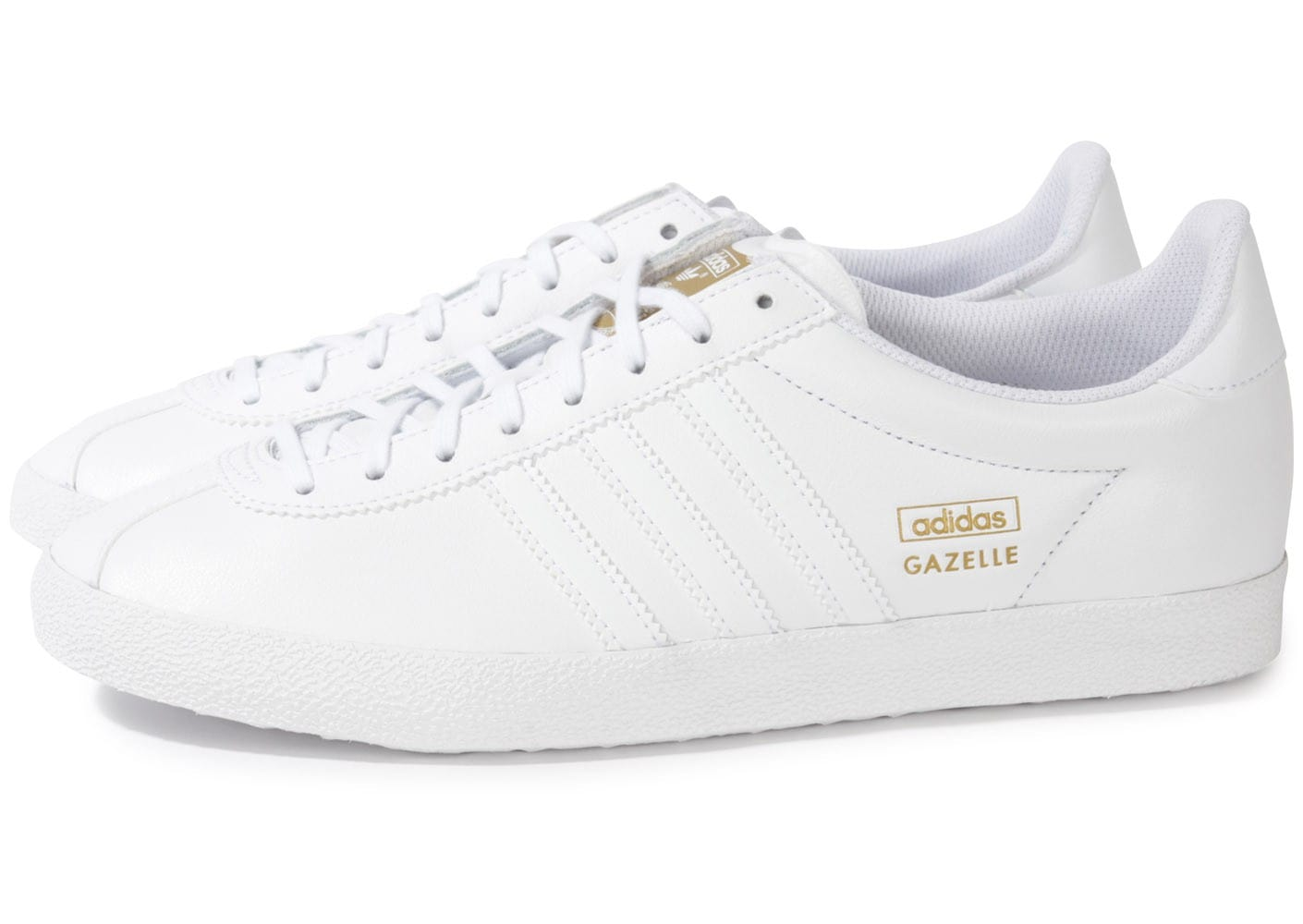 fashion styles on feet at undefeated x adidas Gazelle Og Cuir Blanc - Chaussures Baskets homme ...