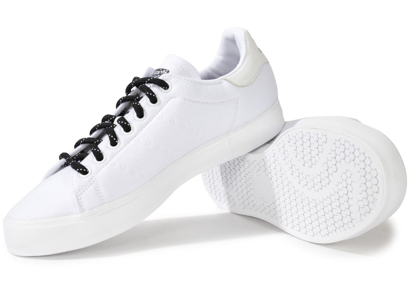 ... Chaussures adidas Stan Smith Toile Blanche vue intérieure ...
