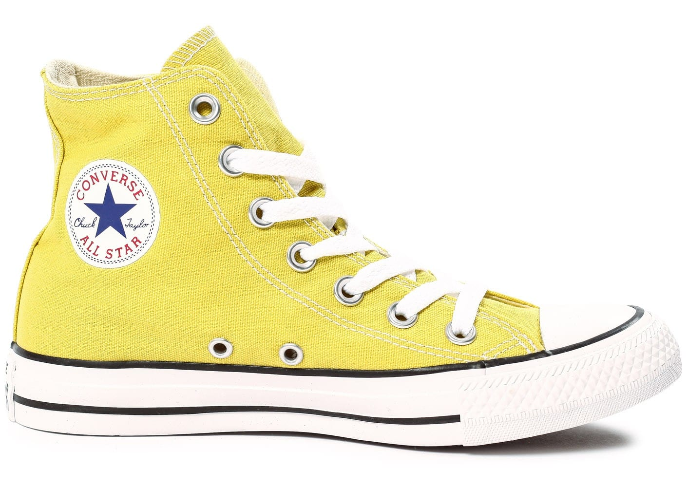 Pâle Taylor All Star Chaussures Converse Jaune Montante Chuck W2YEI9DH
