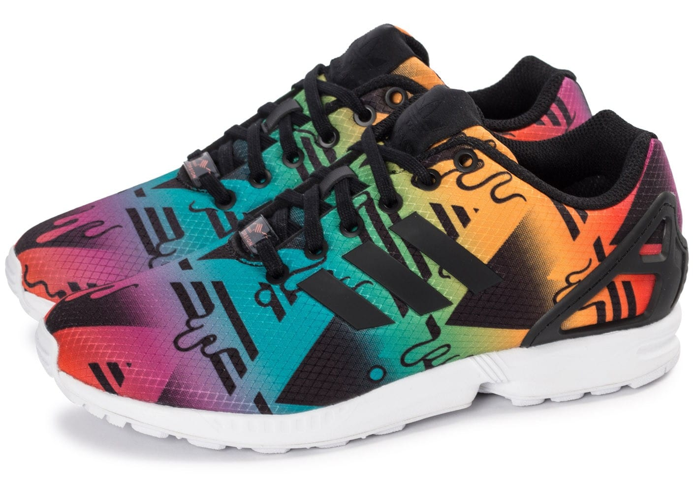 Chausport Zx Flux Homme Baskets Multicolor Adidas Chaussures Aq45j3RL