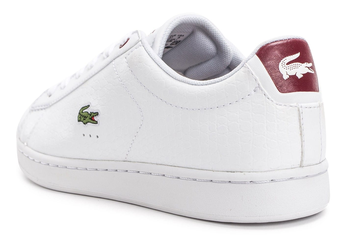 7f0dead06a Baskets Rouge Croc Evo Lacoste Femme Blanche Chaussures Et Carnaby q4x0XA