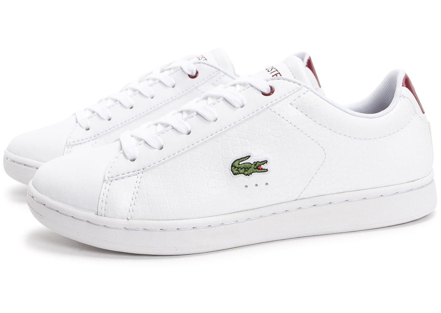 Rouge Evo Chaussures Femme Lacoste Carnaby Blanche Croc Et Baskets W0FqnXx1f
