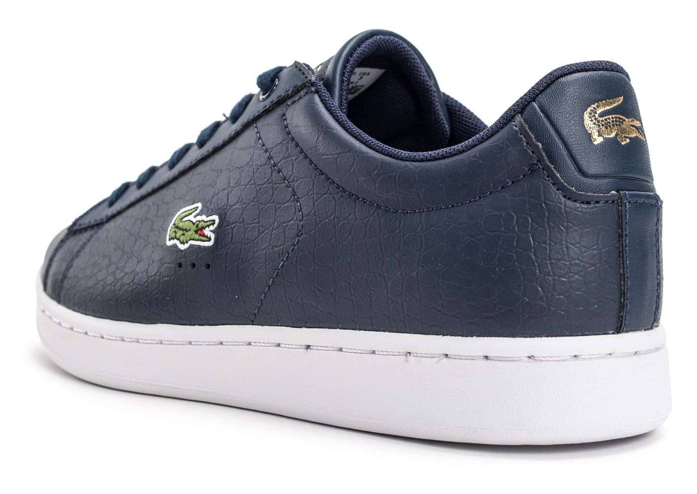 Lacoste Carnaby Bleu marine - Chaussures Baskets basses Femme