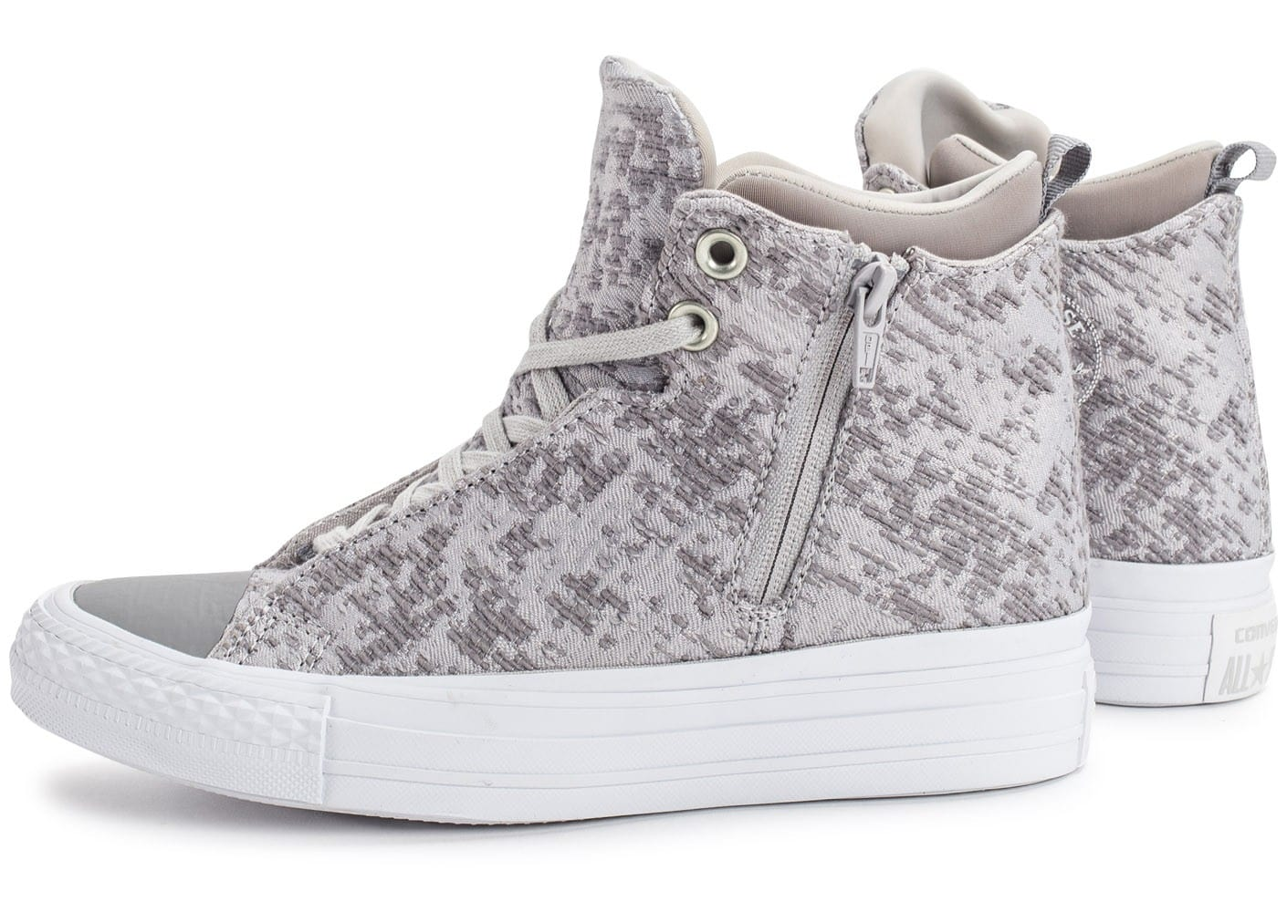 chaussure converse grise femme