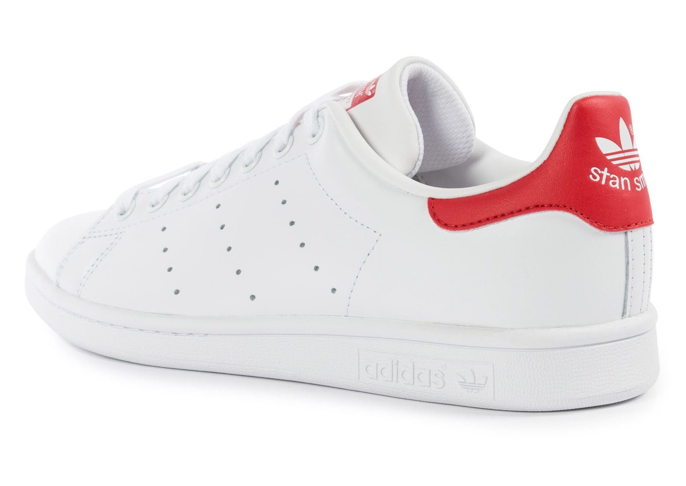 adidas Stan Smith Blanche et rouge - Chaussures Baskets ...