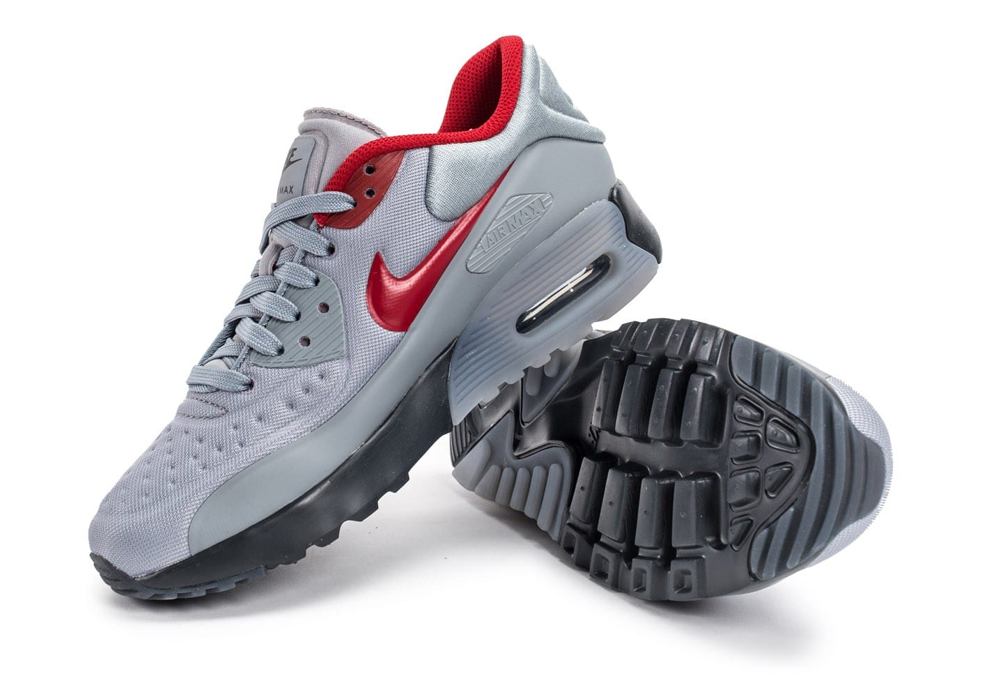 Nike Air Max 90 Ultra Se Junior grise et rouge Chaussures