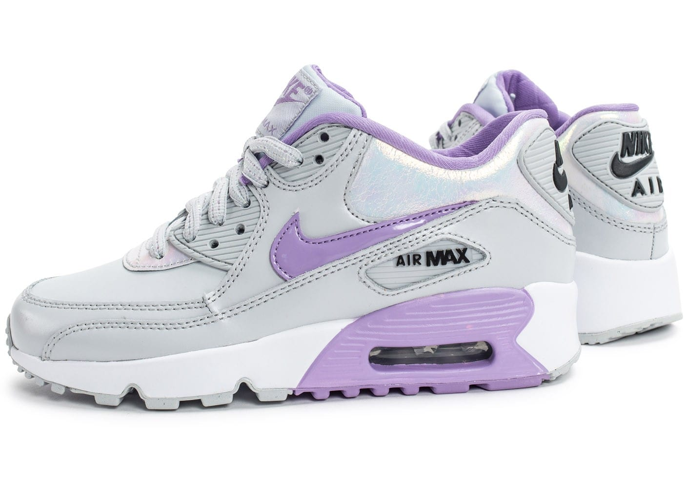 best value fda1b a8a91 ... coupon for cliquez pour zoomer chaussures nike air max 90 se leather  grise et mauve vue