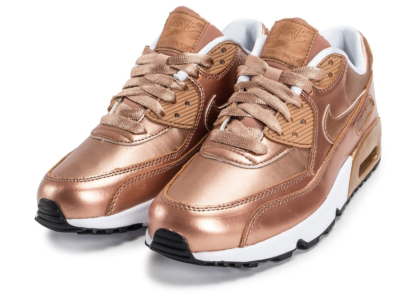 Nike Air Max 90 SE Leather Metallic Bronze Chaussures