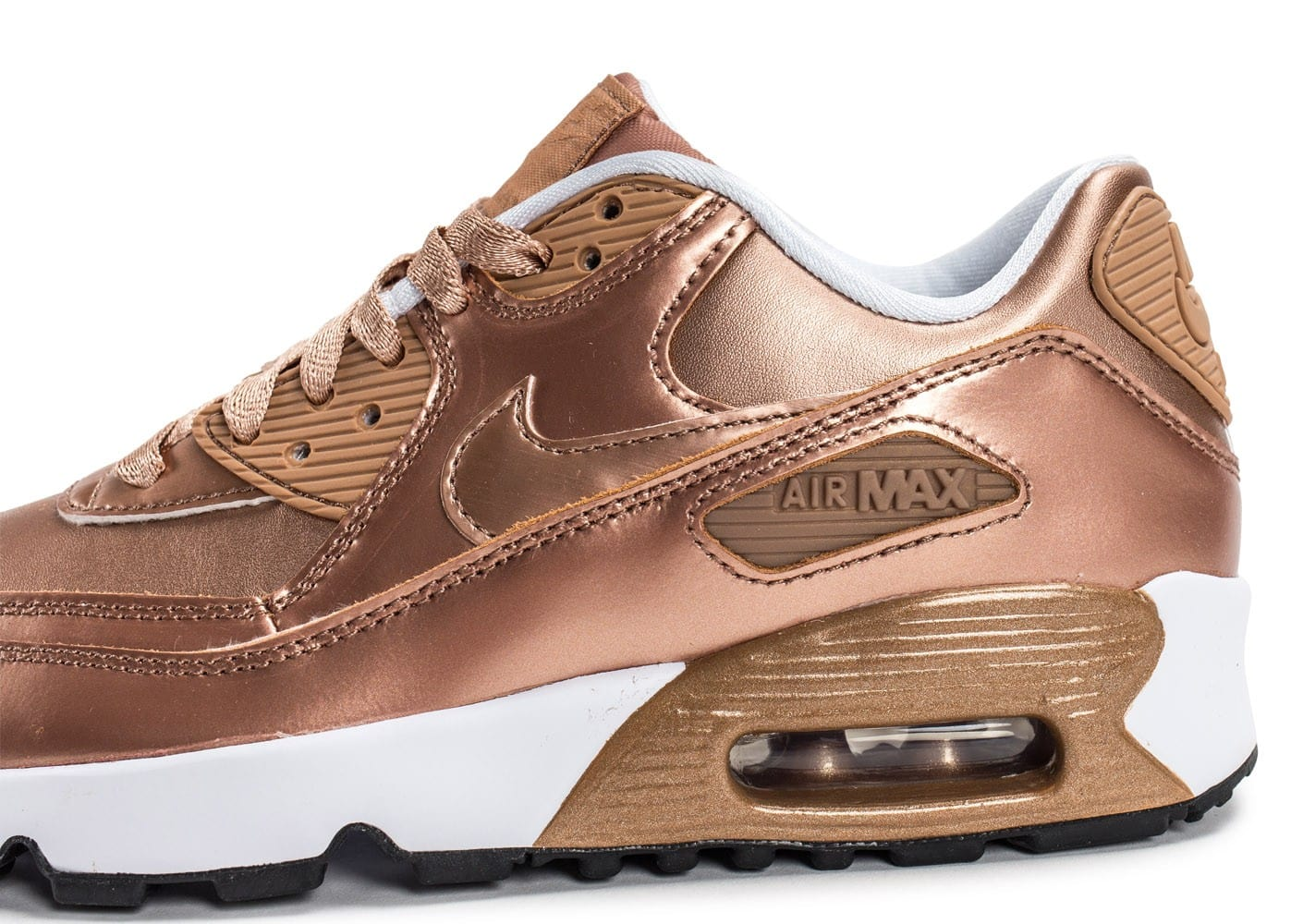 ... Chaussures Nike Air Max 90 SE Leather Metallic Bronze vue dessus