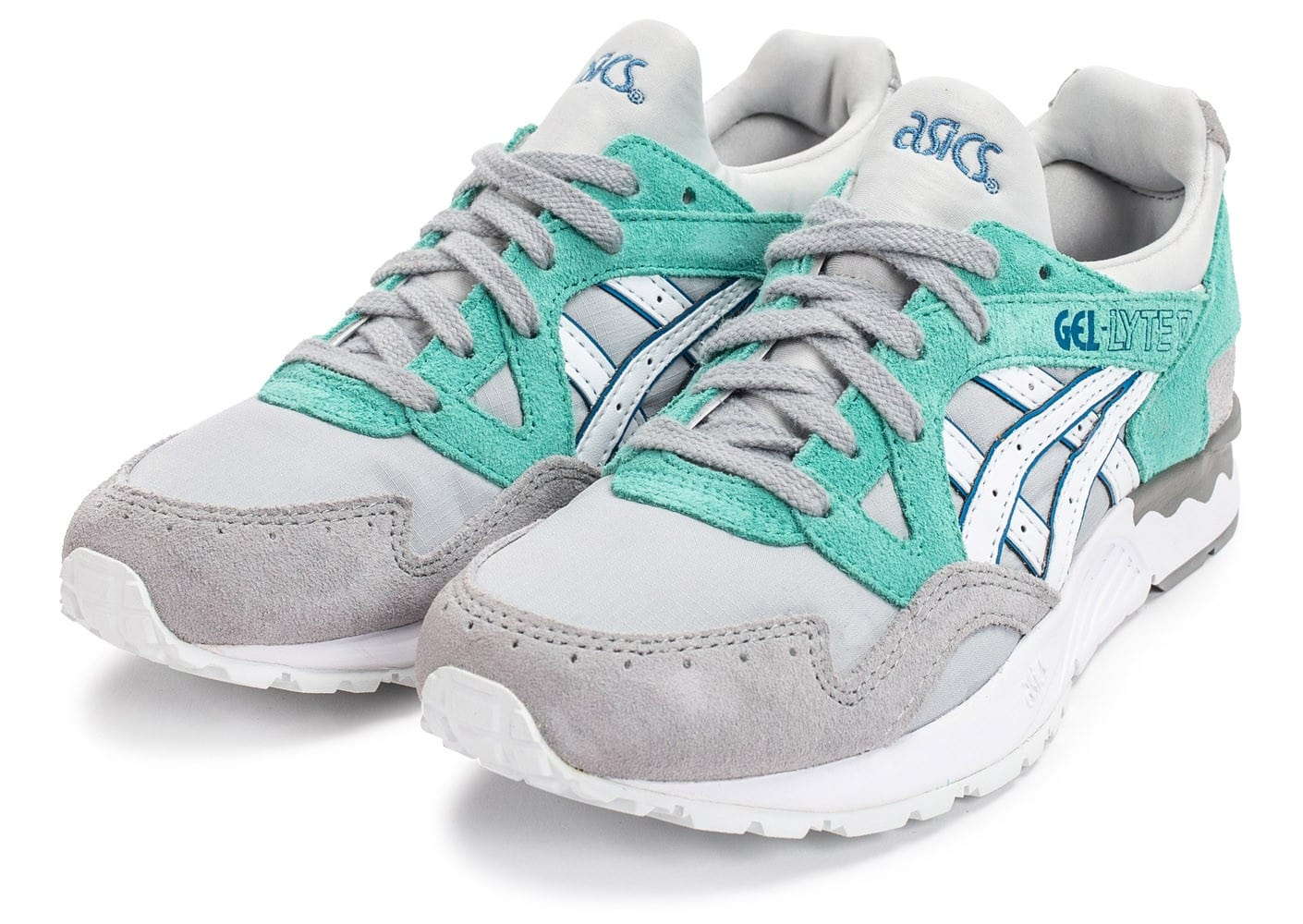 check out 8b232 c8e30 Turquoise Chaussures Gel Grise Baskets Femme Et Asics AnpaPq