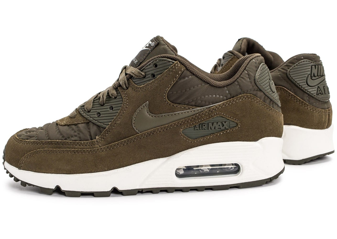 the latest d1c0f ccbe9 ... blanc vert f13c8 where can i buy cliquez pour zoomer chaussures nike  air max 90 premium olive vue extérieure ...