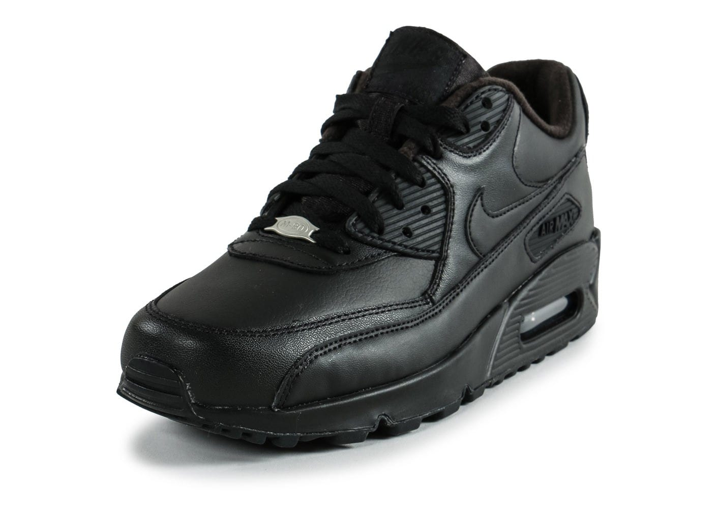 769d1b5f3a32 Nike Air Max 90 Leather noire - Chaussures Baskets homme - Chausport