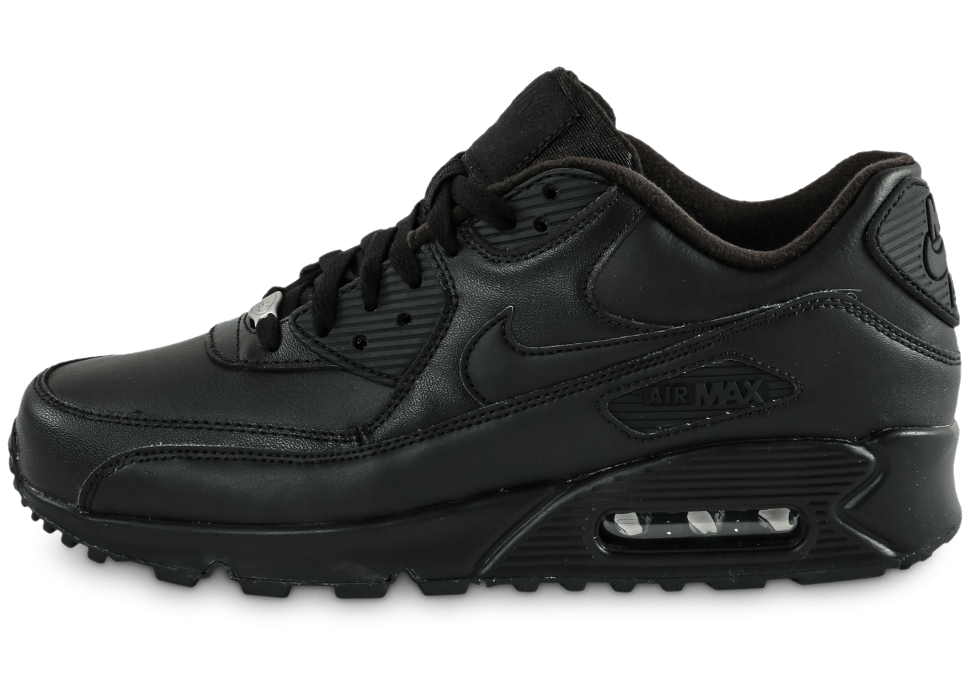 49c12e3c0e6 Nike Air Max 90 Leather noire - Chaussures Baskets homme - Chausport