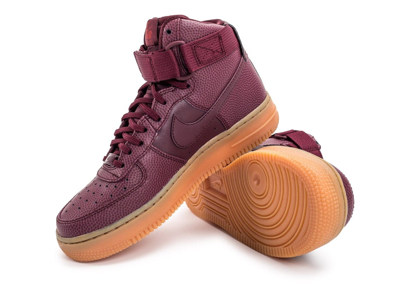 Nike Air Chaussures Femme Force Gum 1 Se Bordeaux Hi Baskets rCxBedWQoE