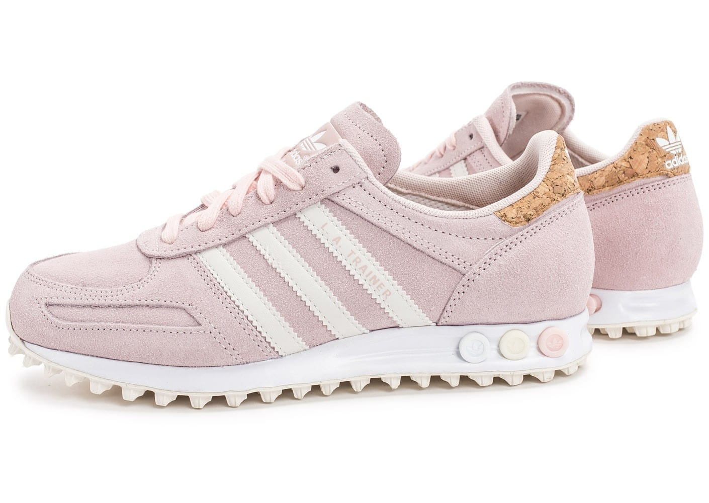 adidas L.A Trainer rose - Chaussures adidas - Chausport