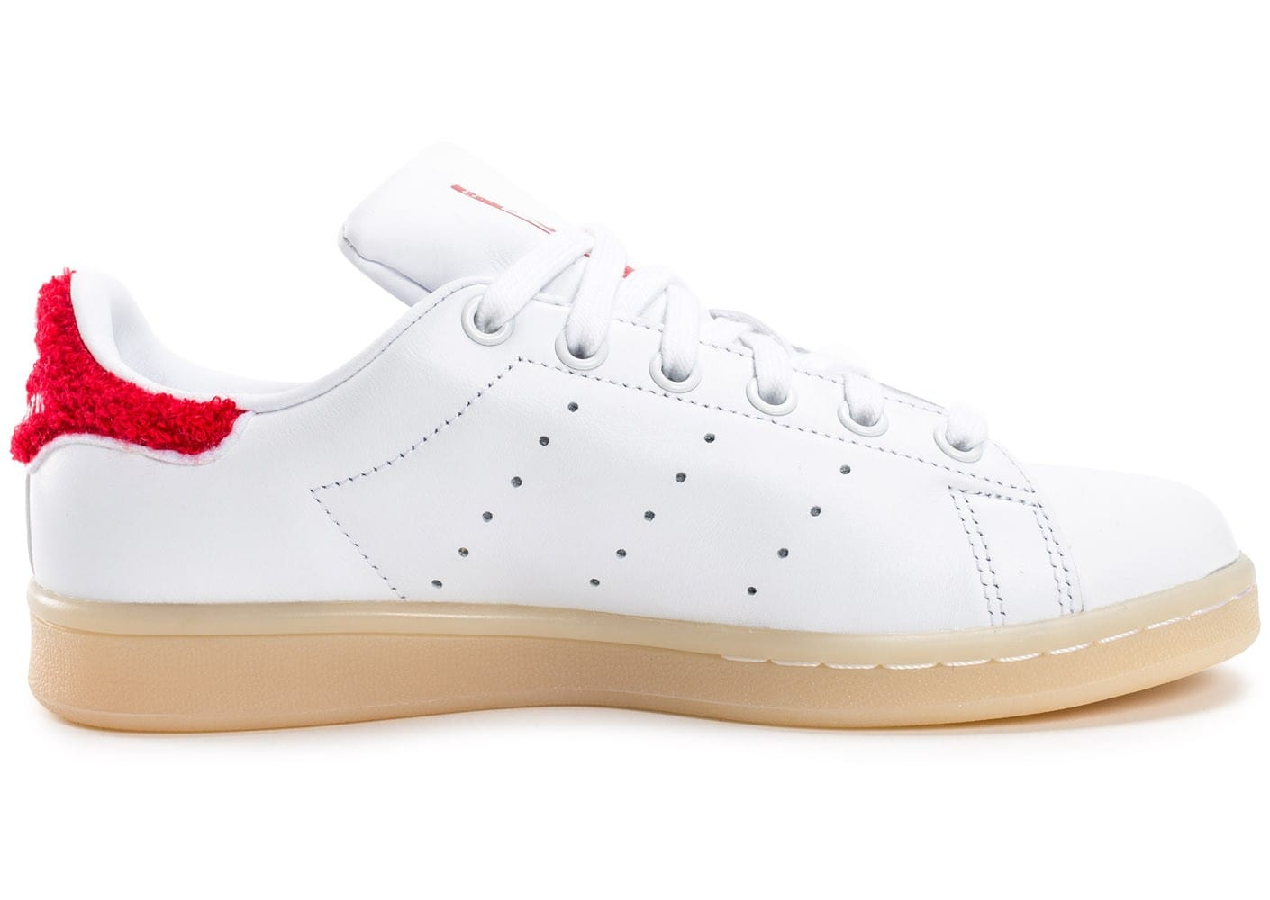 adidas Stan Smith Wool blanche et rouge - Chaussures adidas - Chausport cfef99700254
