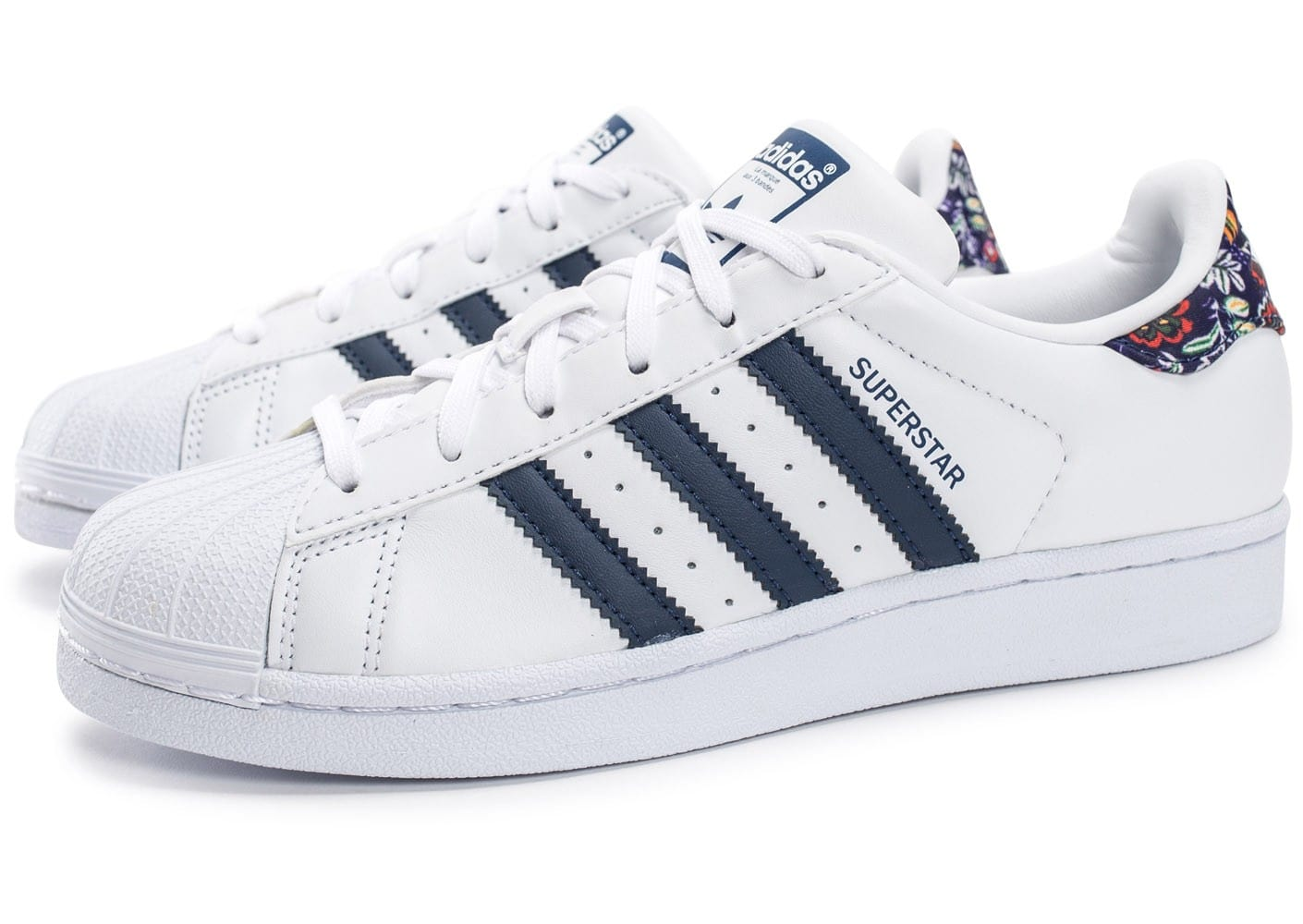 superstar bleu blanche