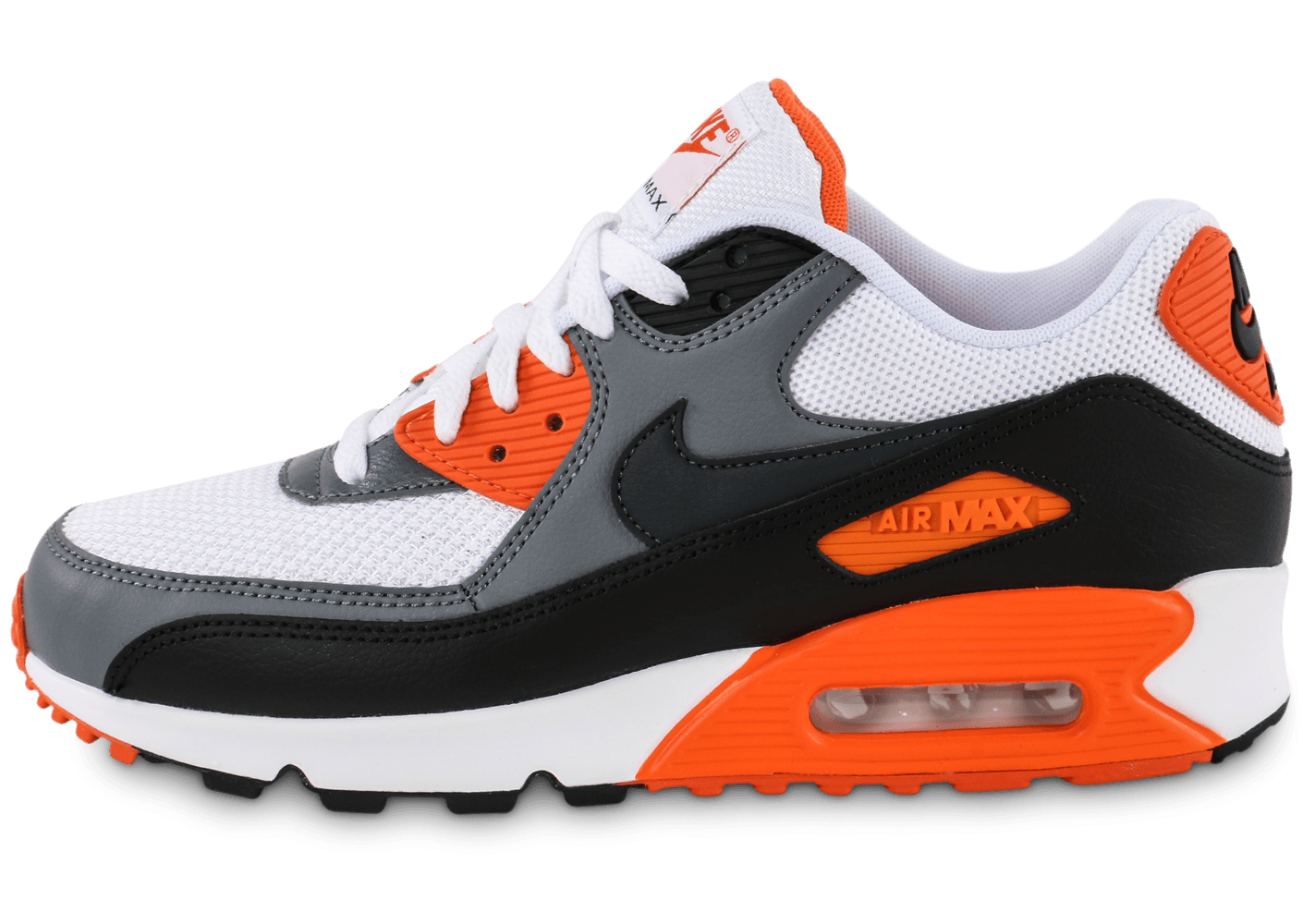 huge selection of a4ac4 b175b Nike Air Max 90 Essential blanc orange - Chaussures Baskets homme -  Chausport