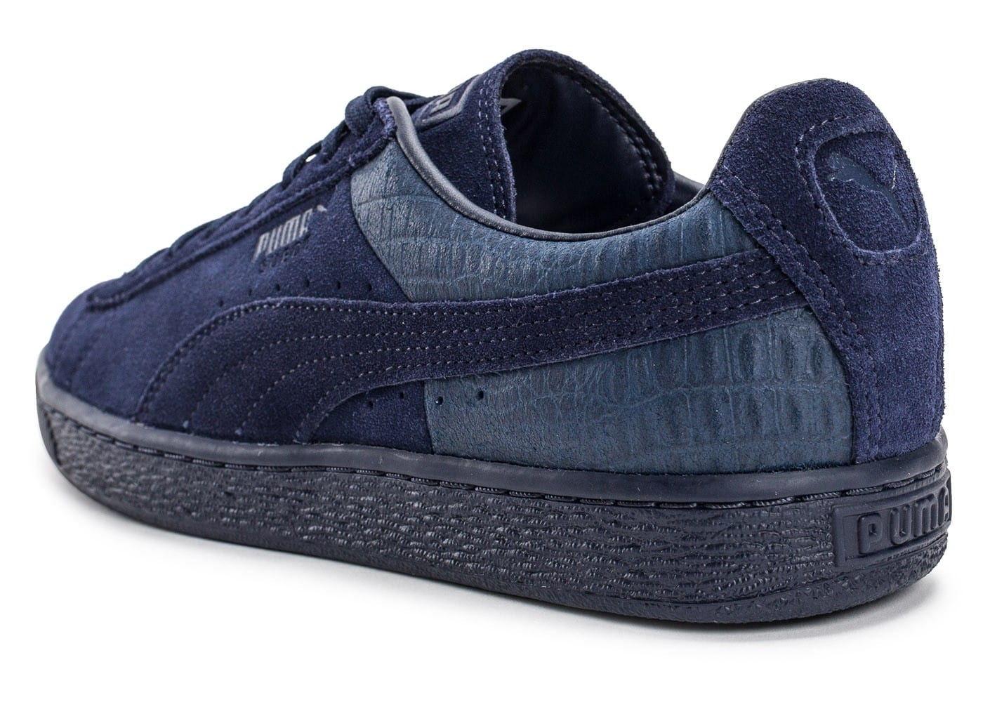 Puma Baskets Suede Classic Casual Emboss Homme Bleu Marine