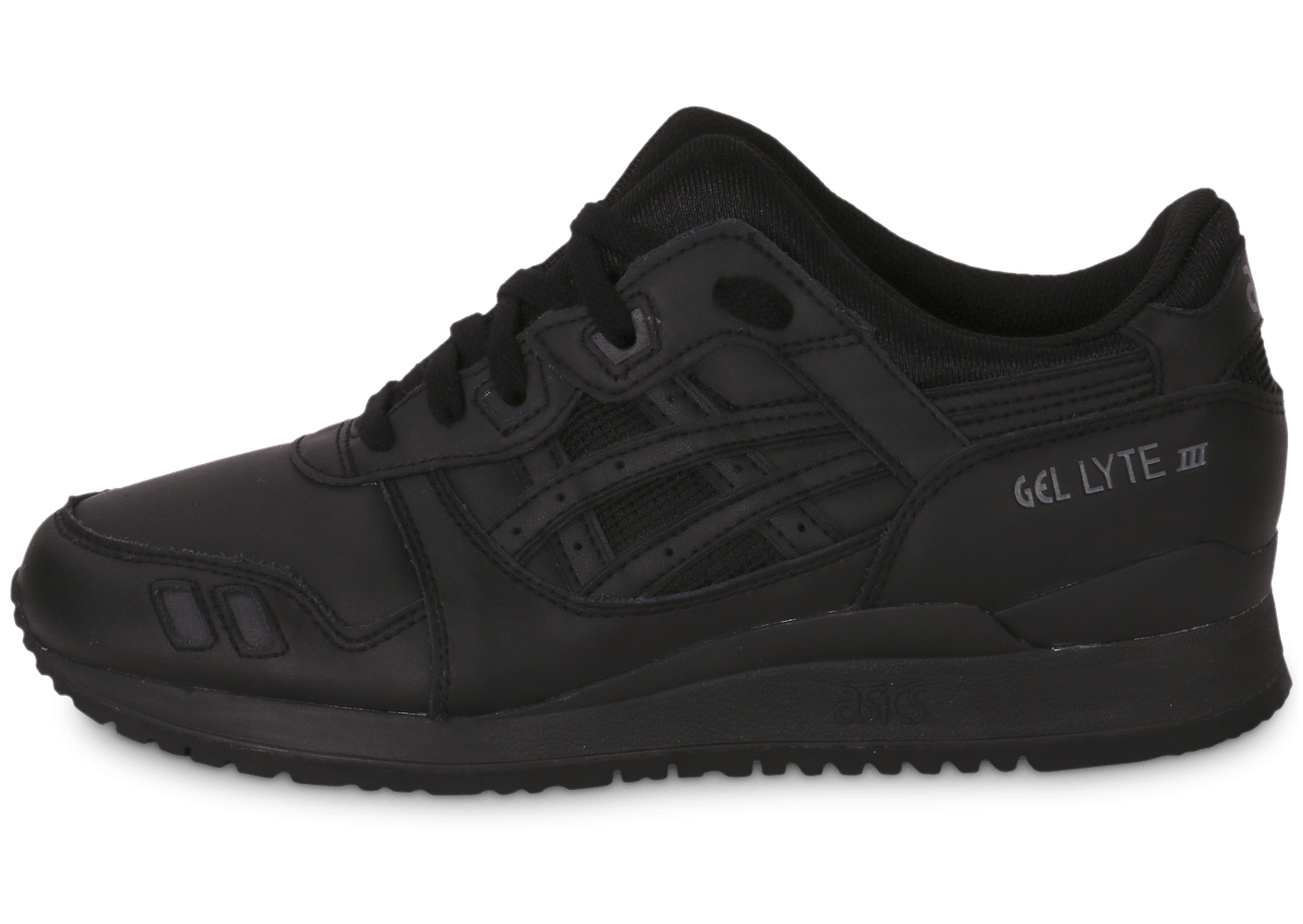 pretty nice ced09 49183 Asics Gel Lyte 3 cuir triple black - Chaussures Baskets homme - Chausport