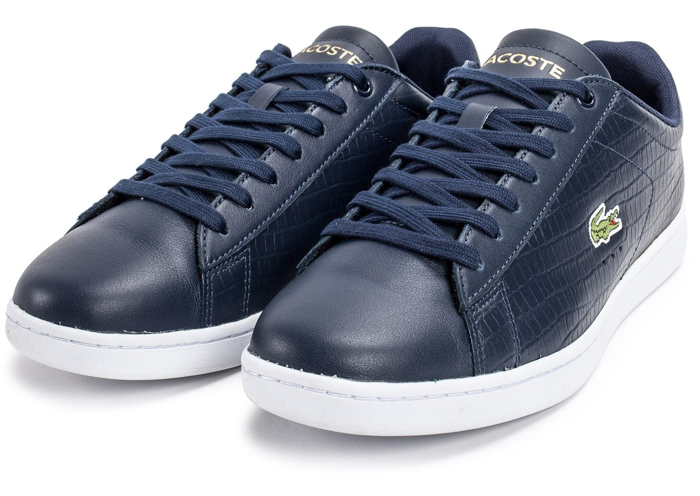 c6772650a25 Lacoste Carnaby Evo Croc bleu marine - Chaussures Baskets homme ...