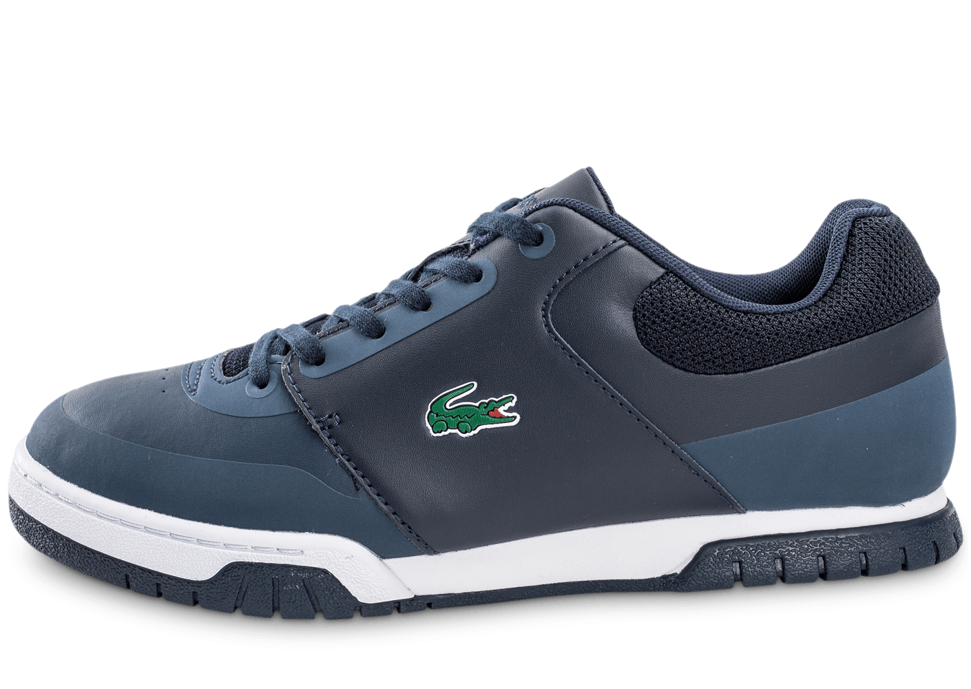 7f2d3079ab5 Lacoste Indiana Evo bleu marine - Chaussures Baskets homme - Chausport