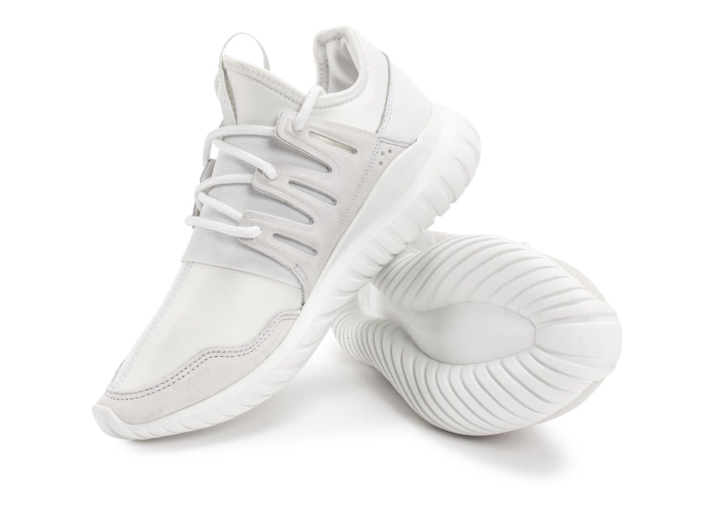 ... Chaussures adidas Tubular Radial blanche vue avant ...