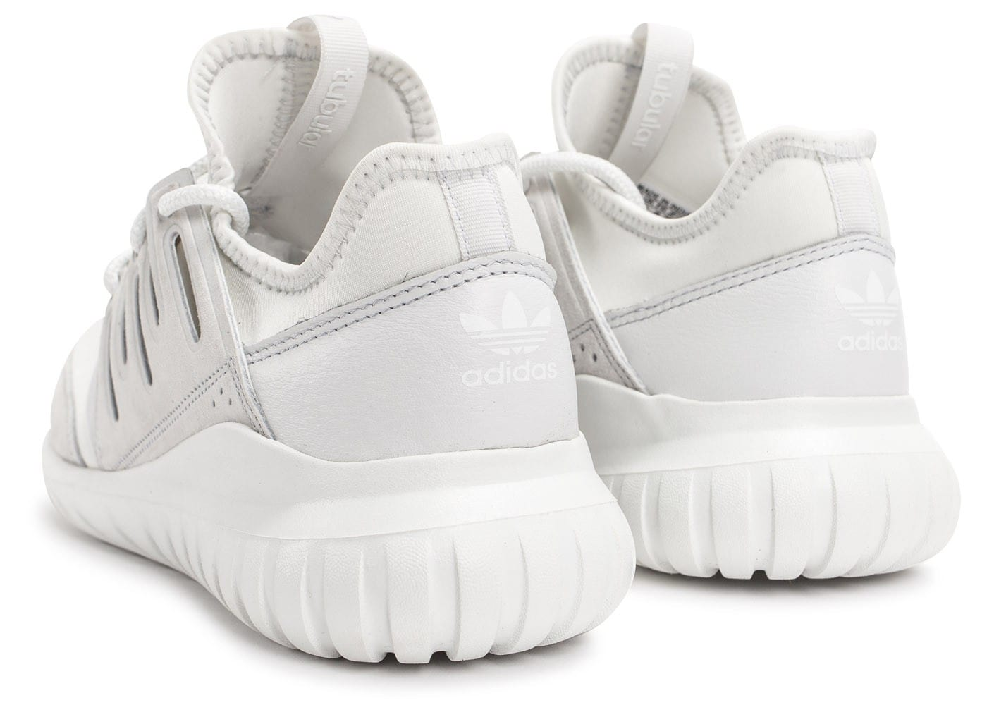 ... Chaussures adidas Tubular Radial blanche vue dessous ...