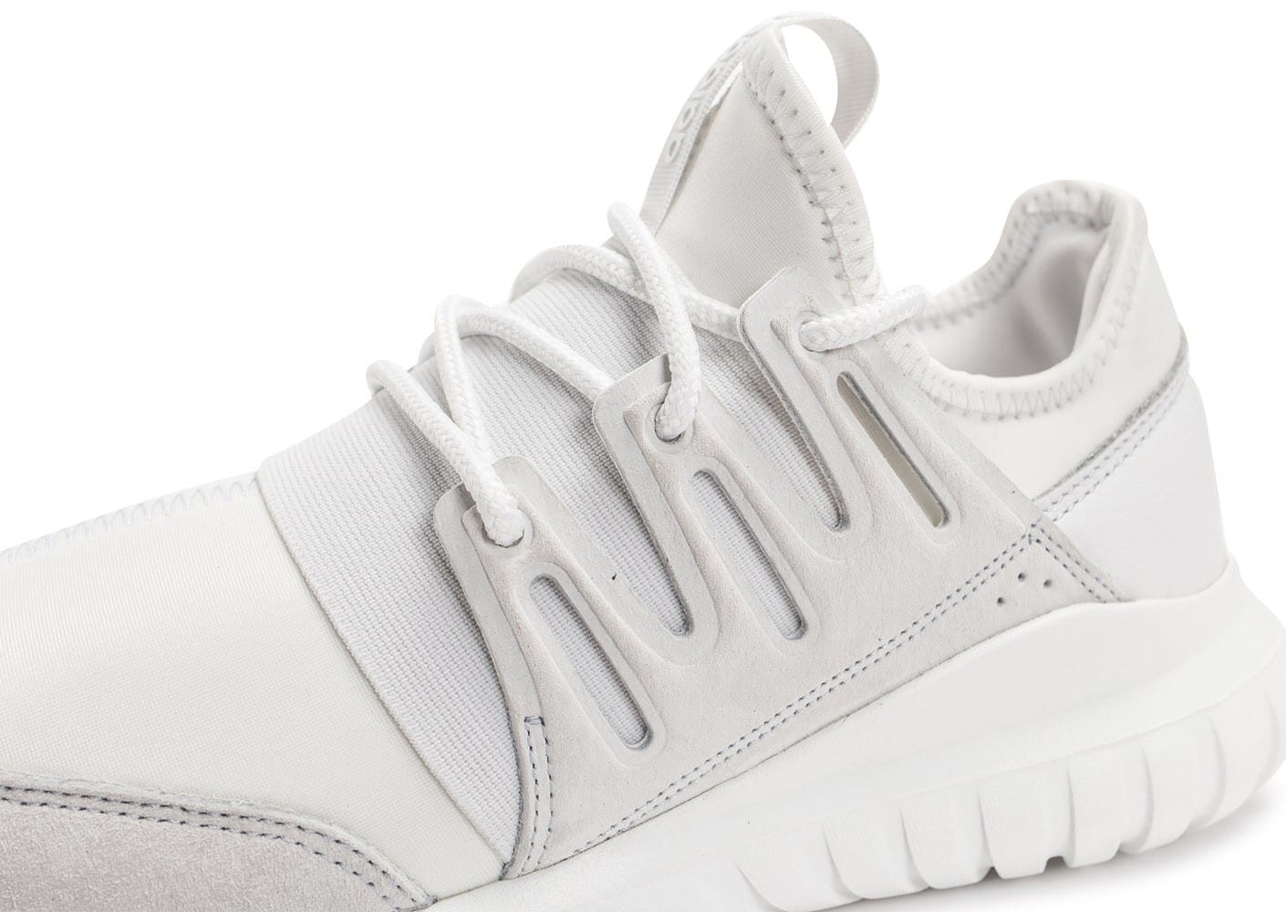 ... Chaussures adidas Tubular Radial blanche vue dessus