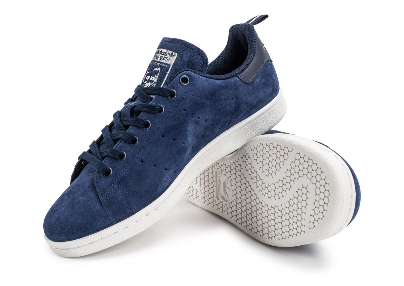adidas stan smith suede bleu marine