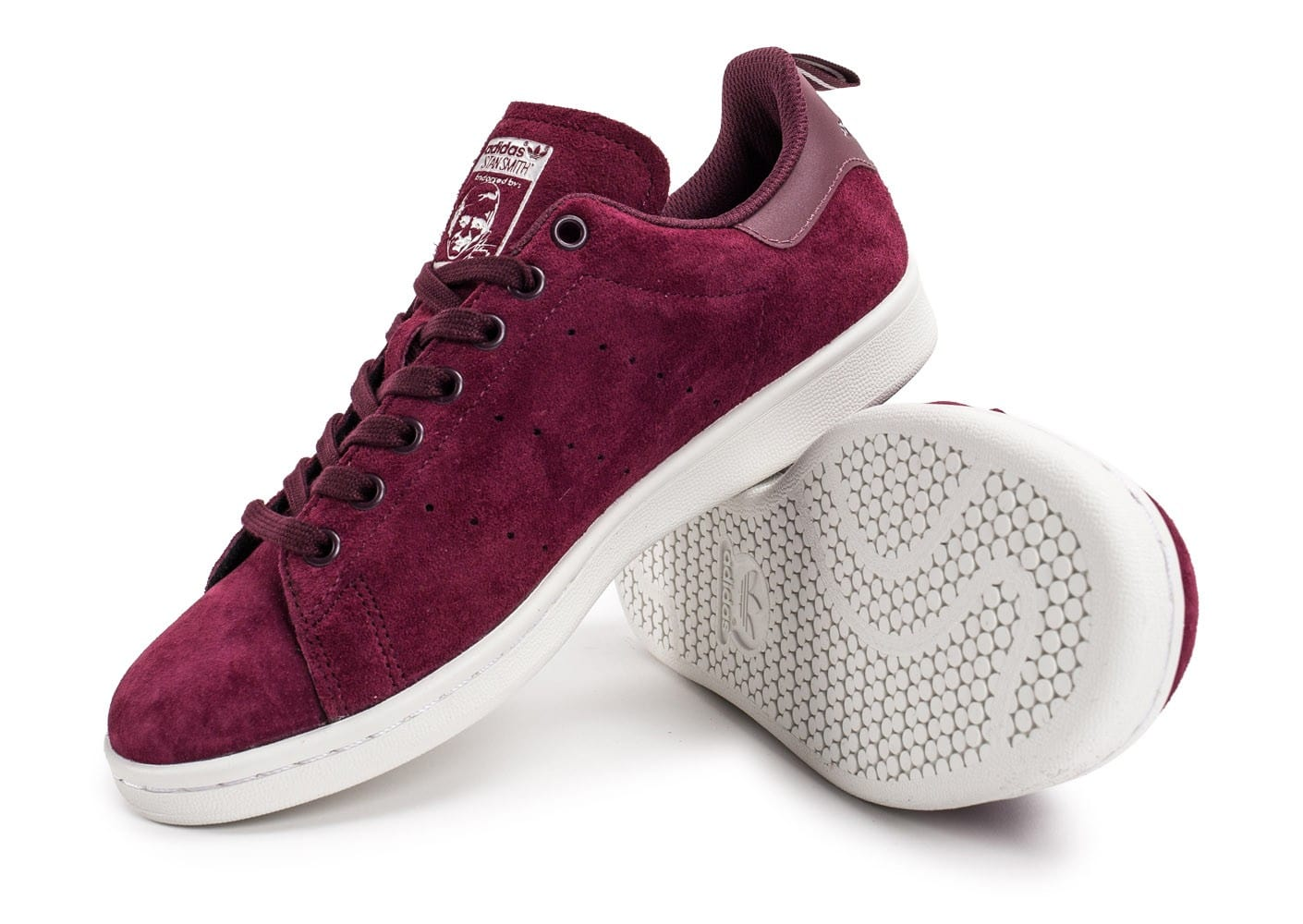 adidas Stan Smith Suede bordeaux Chaussures Baskets homme