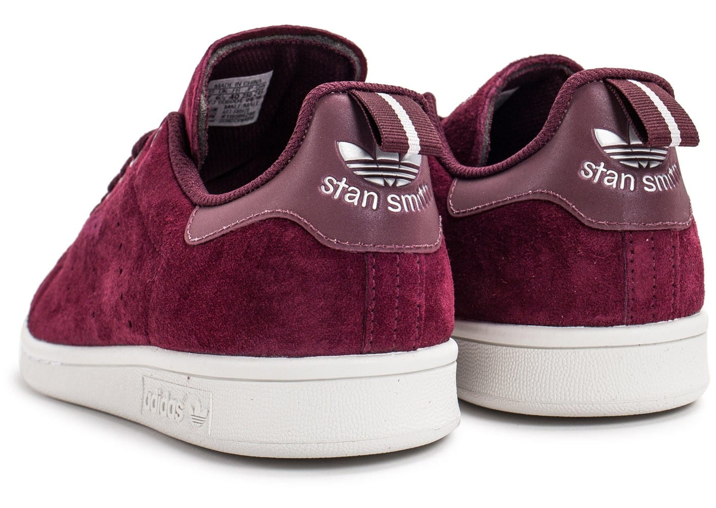 adidas Stan Smith Suede Bordeaux Rouge 44 ic5KSLS1Kw