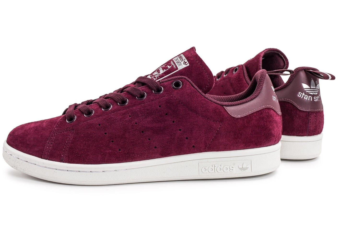 Stan Bordeaux Homme Chaussures Adidas Baskets Suede Chausport Smith 92IHED