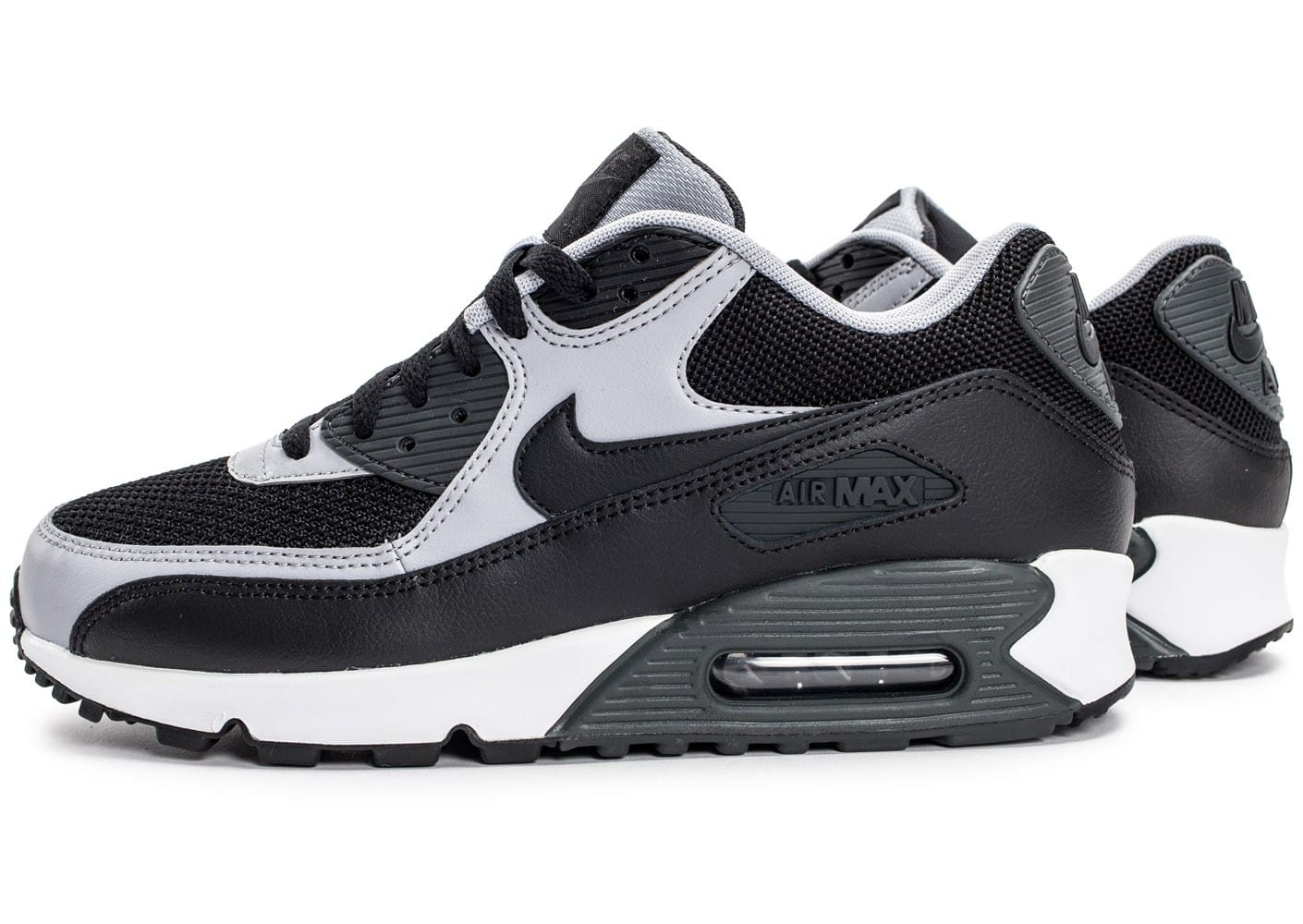 running shoes best website for discount Nike Air Max 90 Essential noire et grise - Chaussures Baskets ...