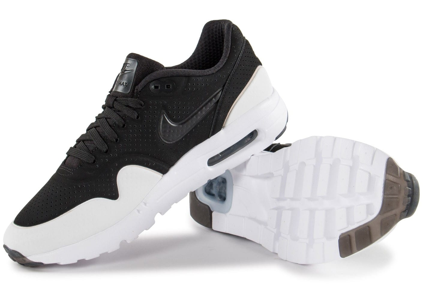Chaussures Nike Moire Noire Ultra 1 Air Max Blanche Baskets Et TFKJl1c