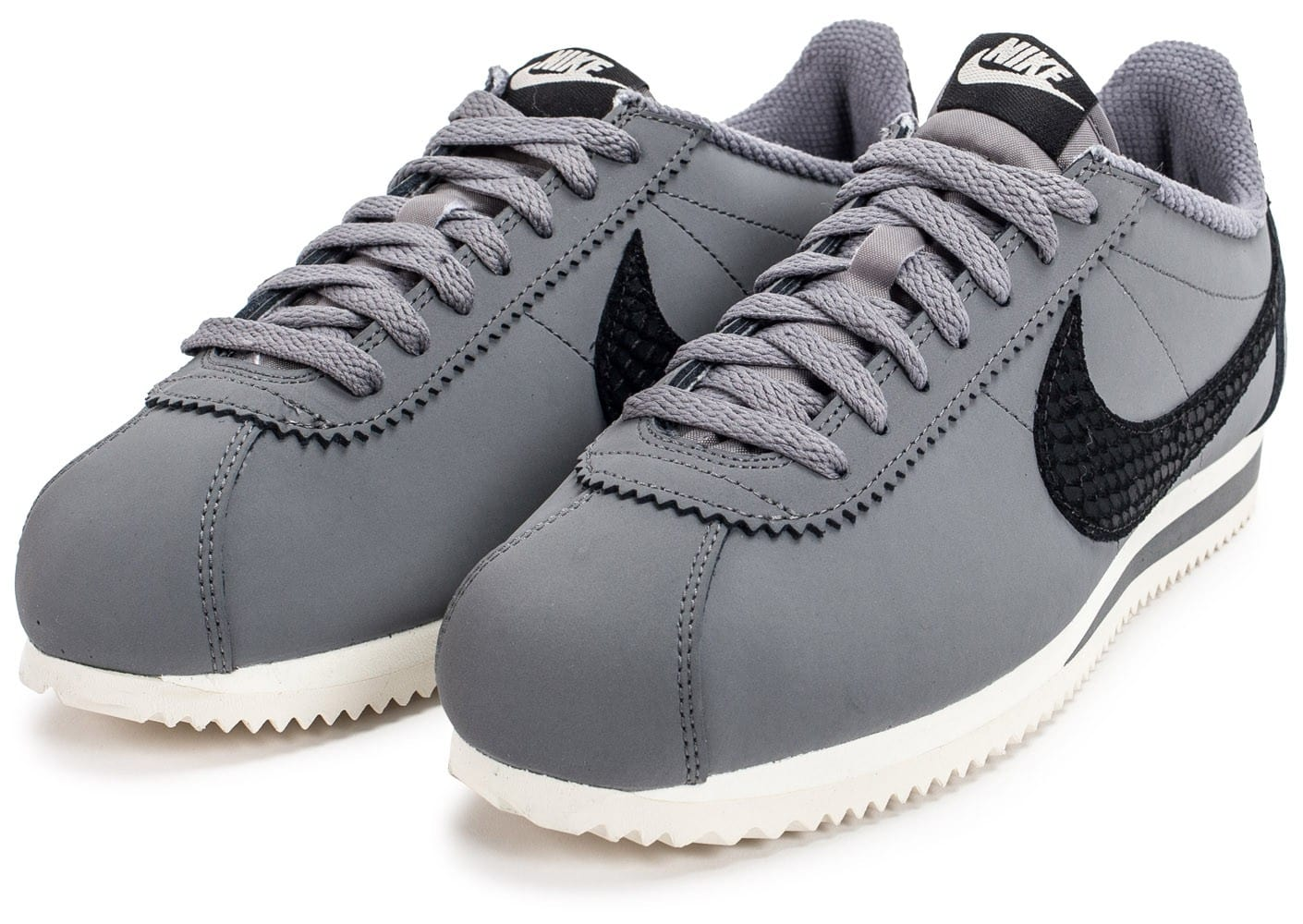 Chaussures Grise Nike Cortez Se Noire Baskets Leather Et Homme Y67yvbfg