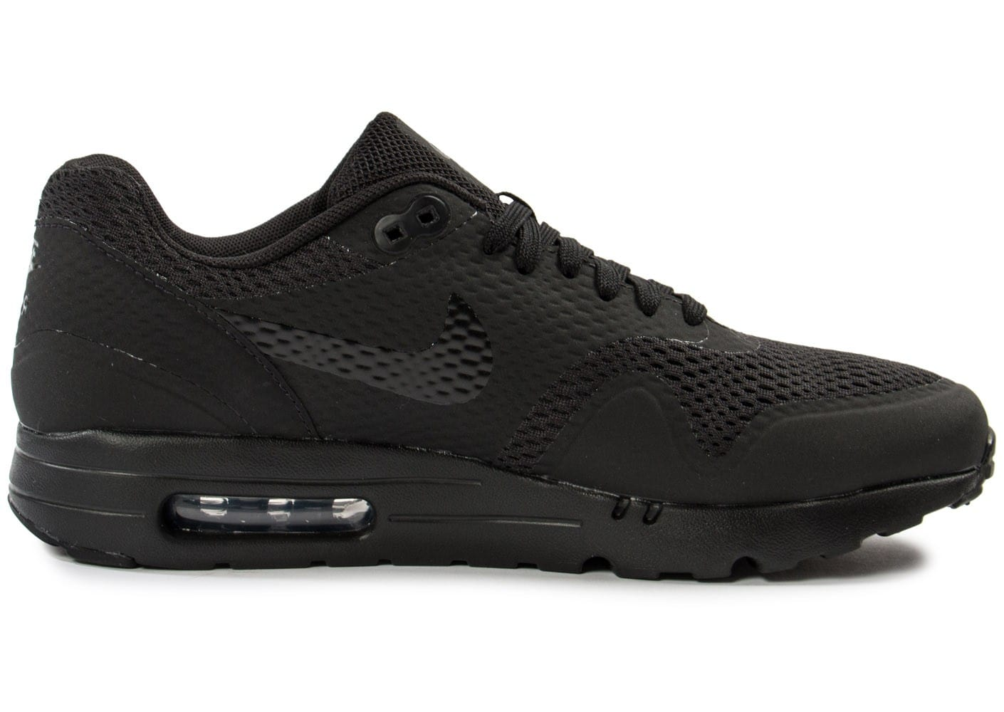 sneakers for cheap 8ced5 e6617 ... hot chaussures nike air max 1 ultra essential noire vue dessous b3598  72a2c