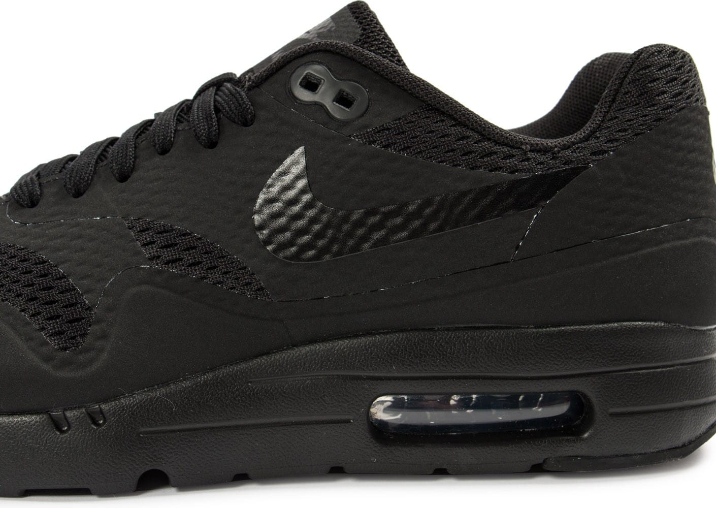 buy online bbe4c af050 ... real chaussures nike air max 1 ultra essential noire vue dessus 7ce64  aba3a