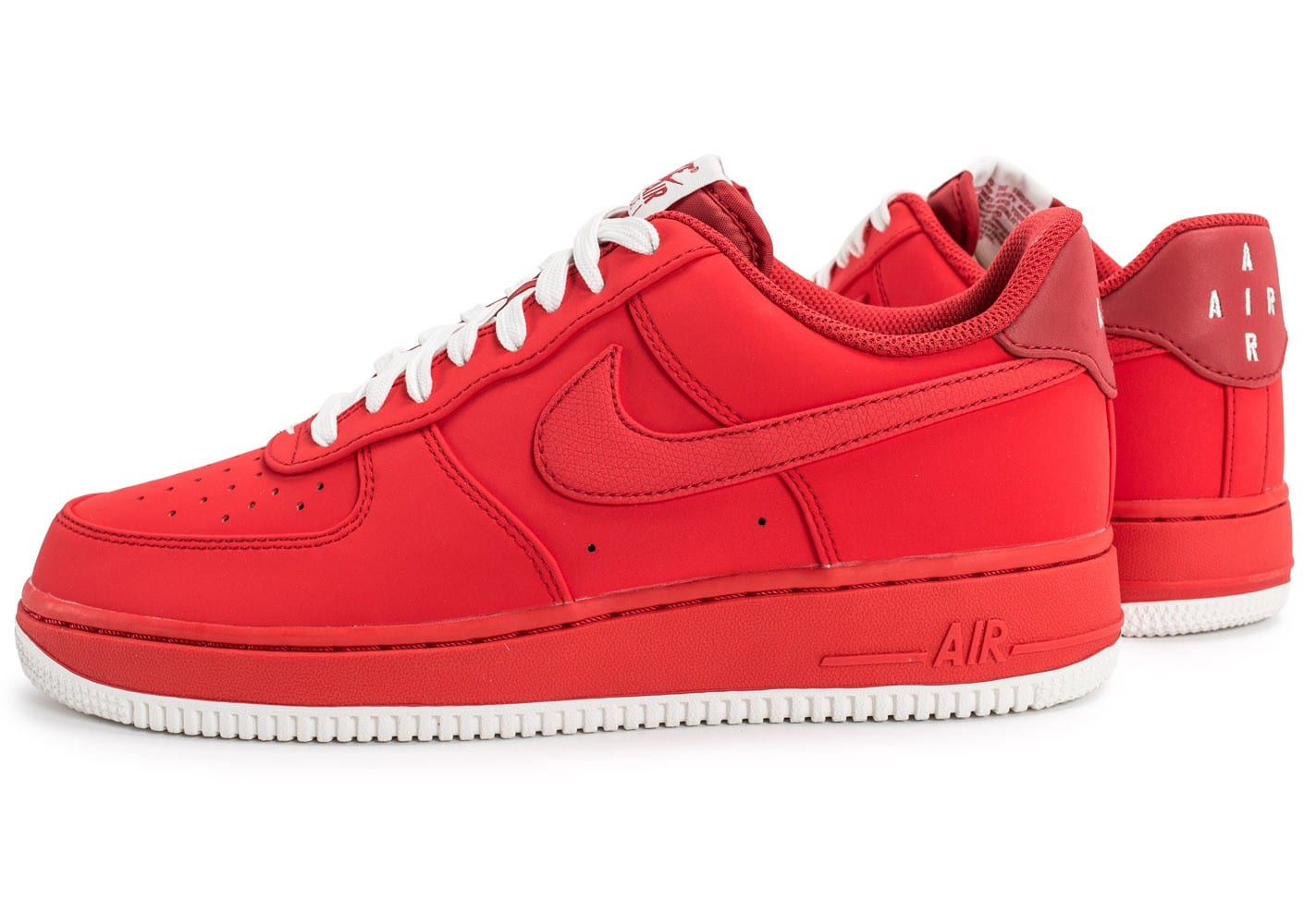 Chaussures Nike Air Force 1 rouges homme nizpsd