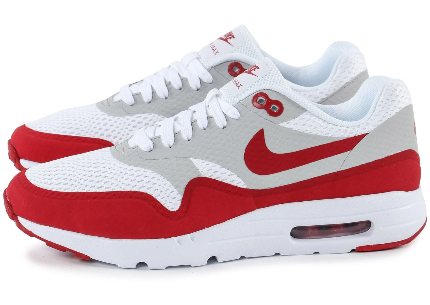 Nike Air Max 1 Ultra Essential blanc rouge Chaussures