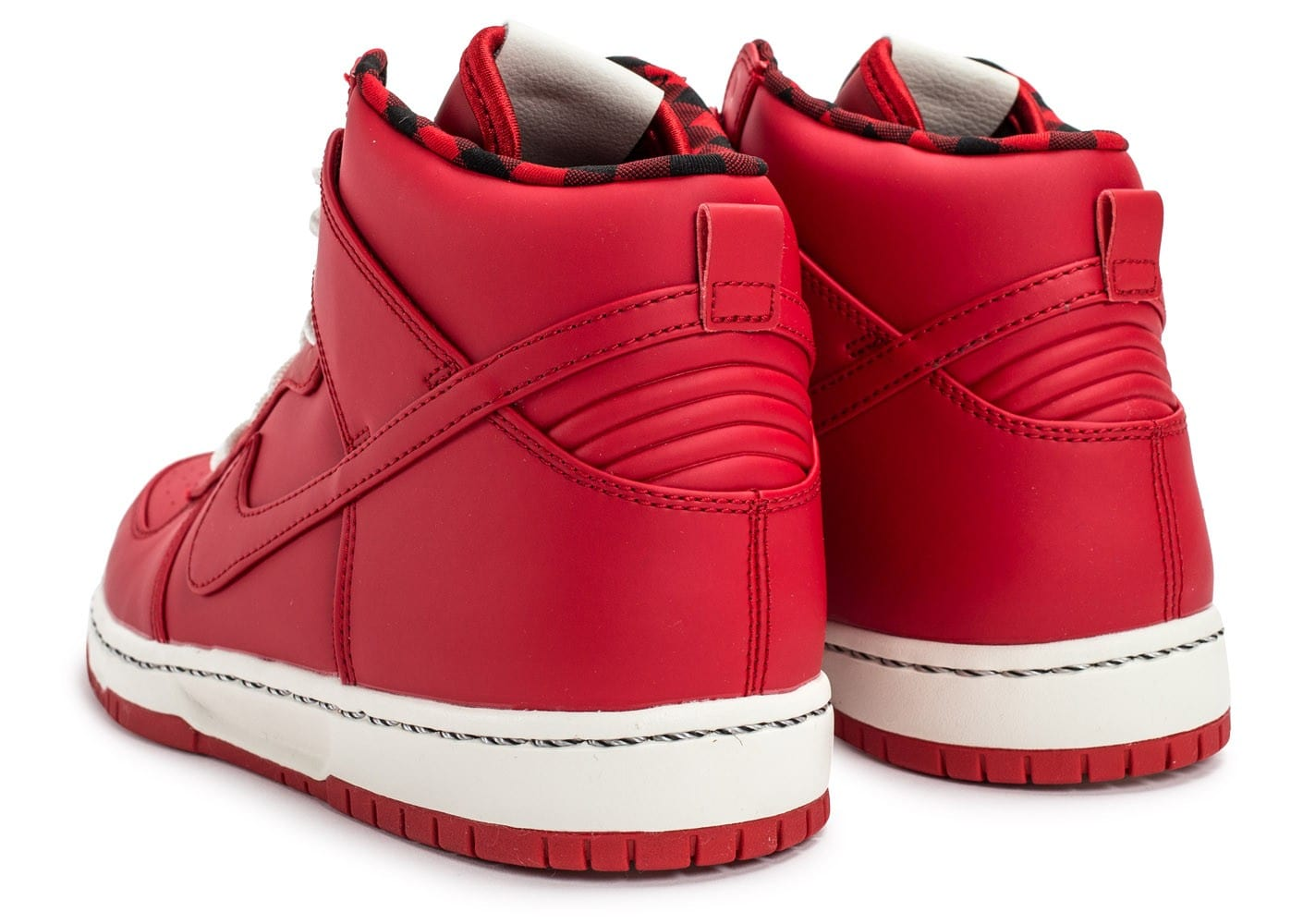 finest selection f8dce f7287 ... shop chaussures nike dunk high ultra rain rouge vue dessous bf7ce 5f8d5