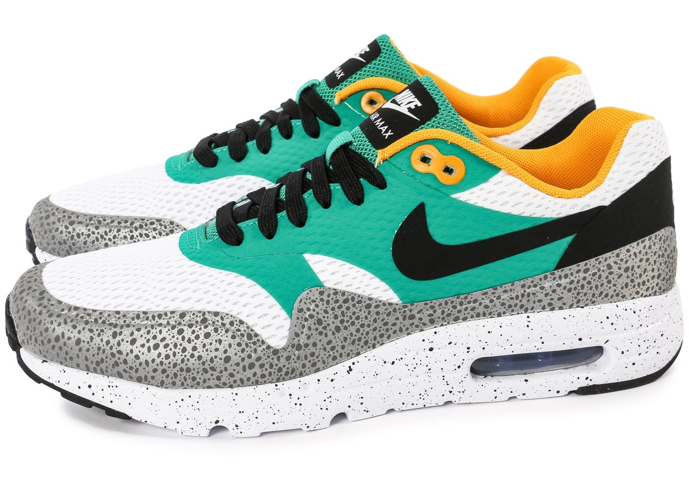 purchase cheap 19b85 ef241 ... coupon code for chaussures nike air max 1 ultra essential emerald green  vue dessus e34a2 850ba