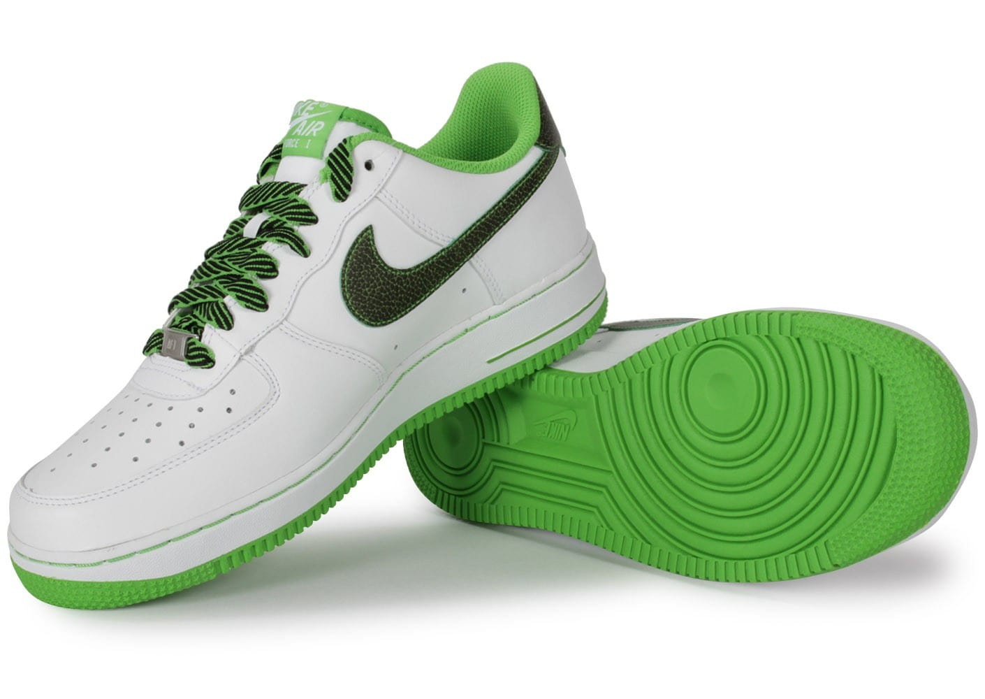 nike air force 1 low blanche vert pomme chaussures. Black Bedroom Furniture Sets. Home Design Ideas