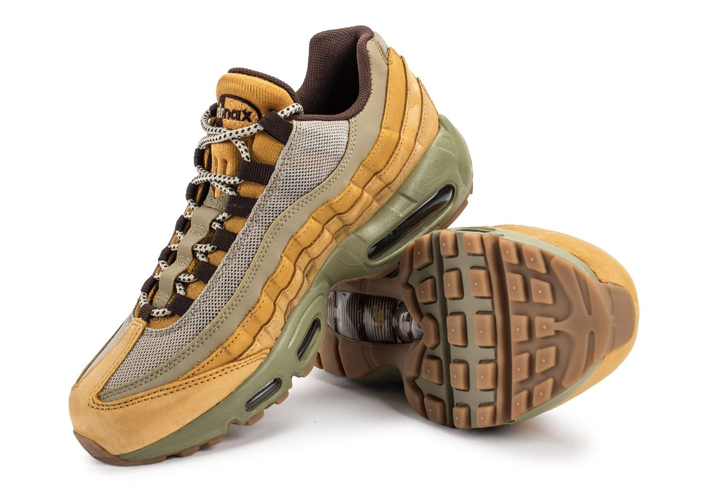nike air max 95 prm wheat chaussures baskets homme chausport. Black Bedroom Furniture Sets. Home Design Ideas